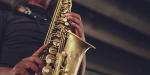 A man playing the sax