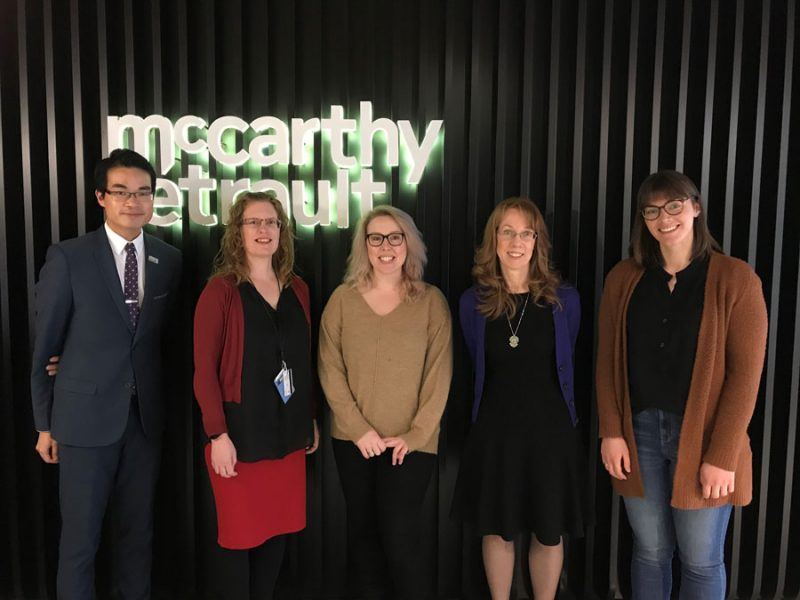 Our club members and the law librarians at the law firm McCarthy Tétrault