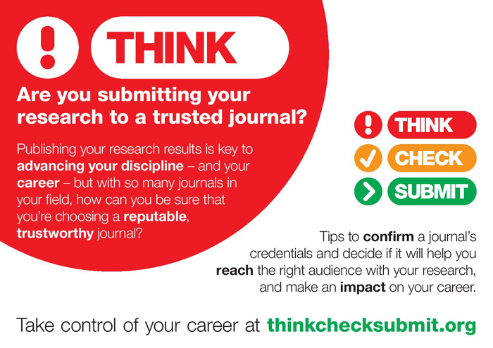 The Think Check Submit poster - think part