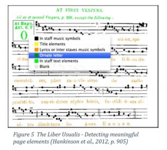 The Liber Usualis - Detecting meaningful page elements (Hankinson et al., 2012, p. 905)